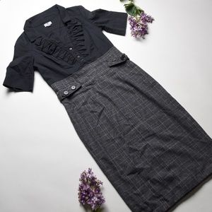 WORTHINGTON Black/Gray Dress - Size 4